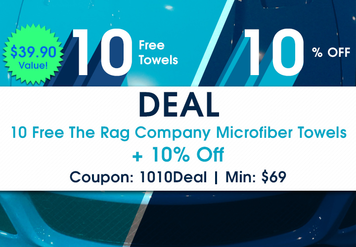 10-10 Deal - 10 Free The Rag Company Microfiber Towels + 10% Off - Coupon 1010Deal - Min $69 - Shop Now