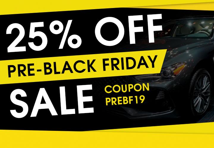 25% Off Pre-Black Friday Sale - Coupon PREBF19