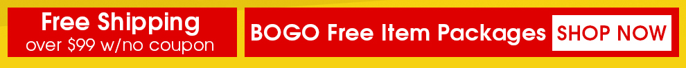 Free Shipping over $99 w/ no coupon - BOGO Free Item Packages - Shop Now