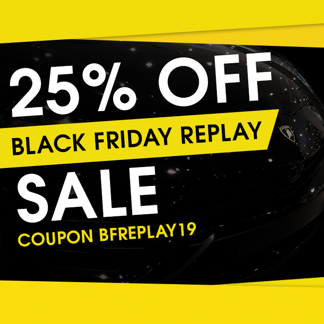 25% Off Black Friday Replay Sale - Coupon BFREPLAY19