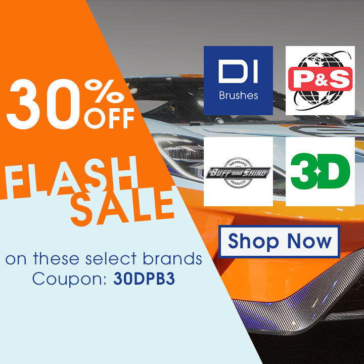 30% Off Flash Sale On These Select Brands - DI Brushes - P&S - Buff and Shine - 3D - Coupon Code 30DPB3 - Shop Now