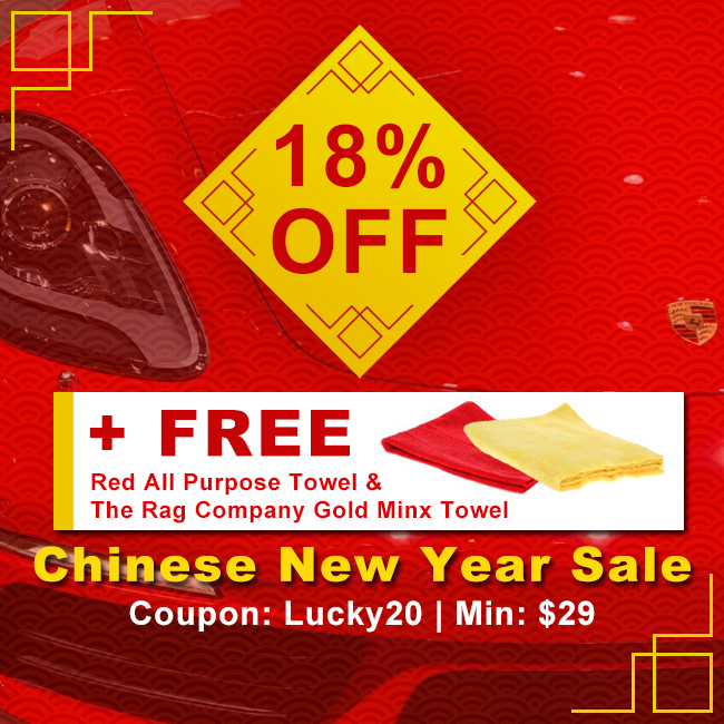 18% Off + Free Red All Purpose Towel & The Rag Company Gold Minx Towel - Chinese New Year Sale - Coupon Lucky20 - Min $29