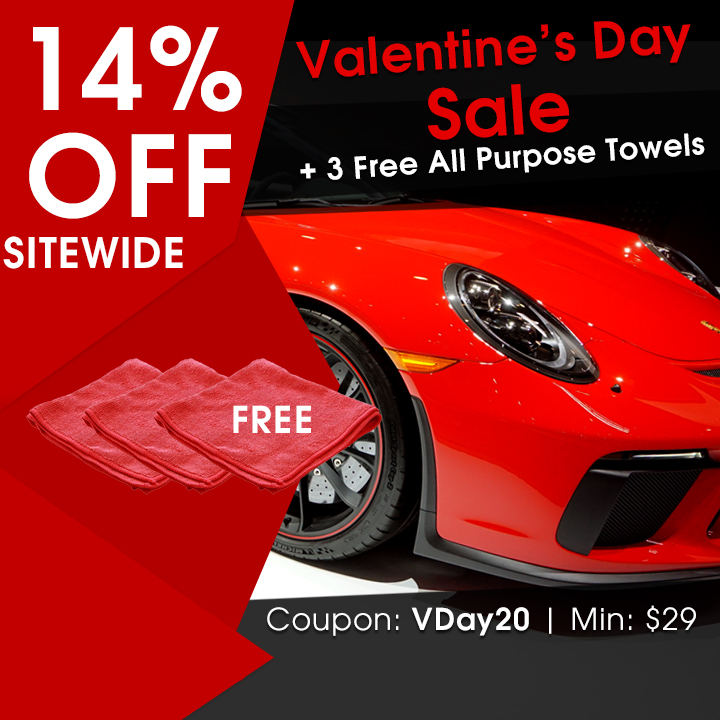 14% Off Sitewide + 3 Free All Purpose Towels - Valentine's Day Sale - Coupon VDay20 - Min $29