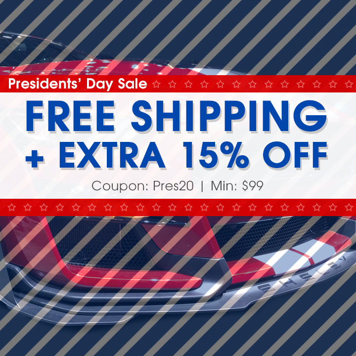 Presidents' Day Sale - Free Shipping + 15% Off - Coupon Pres20 - Min $99