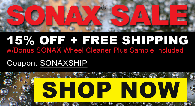 SONAX SALE: 15% Off + Free Shipping