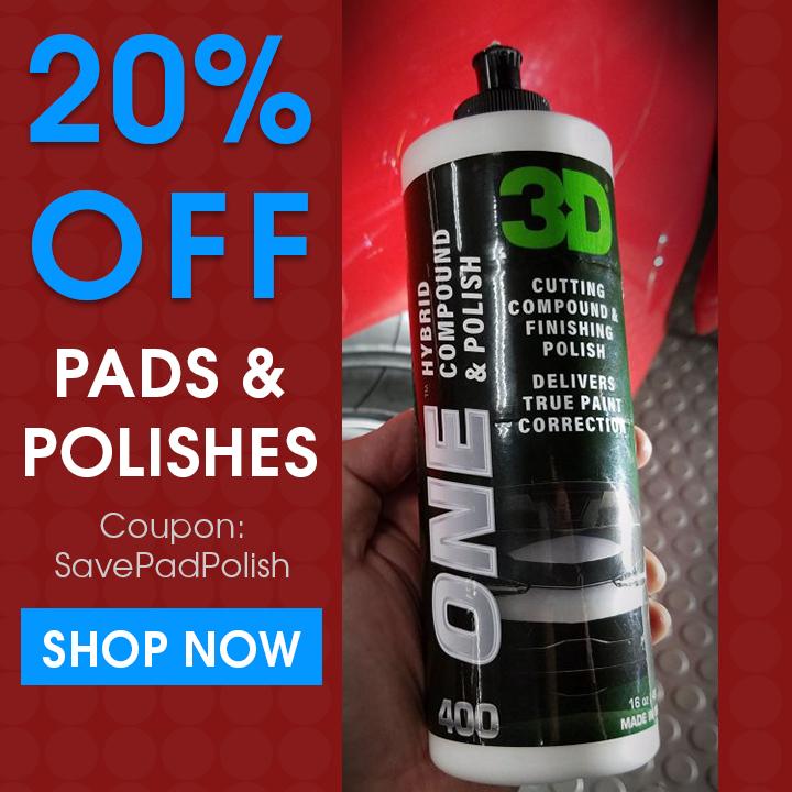 20% Off Pads and Polishes - Coupon SavePadPolish - Shop Now