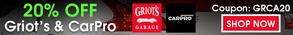 20% Off Griot's and CarPro - Coupon GRCA20 - Shop Now