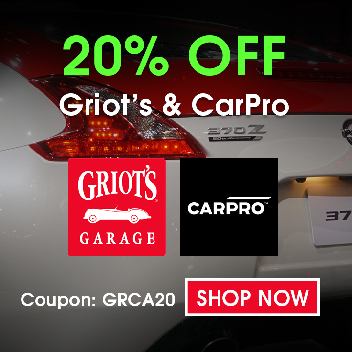 20 Off Griots and CarPro