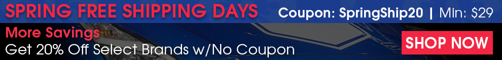 Spring Free Shipping Days - Coupon SpringShip20 - Min $29 - More Savings: 20% Off Select Brands Lake Country, DI Microfiber, Jescar, And More - Shop Now