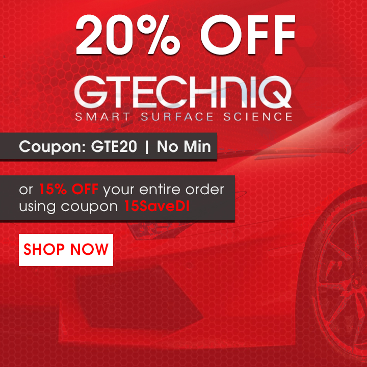 20% Off Gtechniq - Coupon GTE20 - No Min - or 15% off your entire order using coupon 15SaveDI - Shop Now