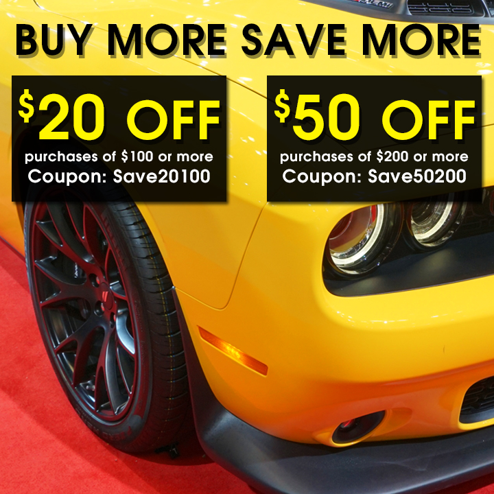 Buy More Save More - $20 off purchases of $100 or more coupon Save20100 or $50 off purchases of $200 or more coupon Save50200