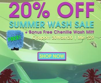 20 Off Summer Wash Sale