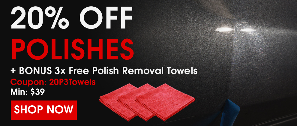 20% Off Polishes + Bonus 3x Free Polish Removal Towels - Coupon 20P3Towels - Min $39 - Shop Now