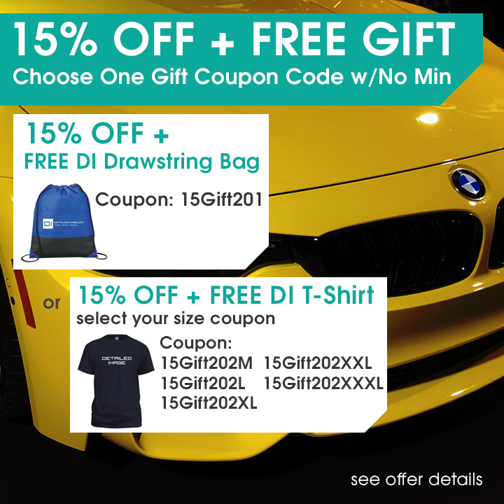 15% Off + Free Gift - Choose One Gift Coupon Code w/No Min - 15% Off + Free DI Drawstring Bag Coupon 15Gift201 - 15% Off + Free DI T-Shirt select your size coupon 15Gift202M 15Gift202L 15Gift202XL 15Gift202XXL 15Gift202XXXL - see offer details