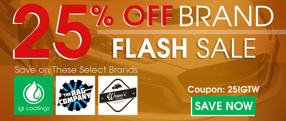 25% Off Brand Flash Sale - Save on these select products: IGL, The Rag Company, & Wowo's - Coupon 25IGTW - Save Now