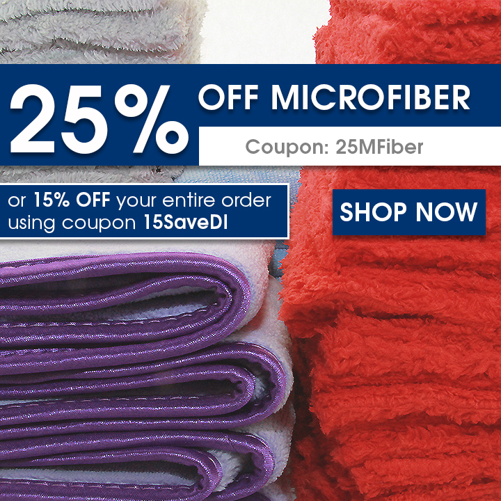 25% Off Microfiber - Coupon 25MFiber or 15% off your entire order using coupon 15SaveDI - Shop Now