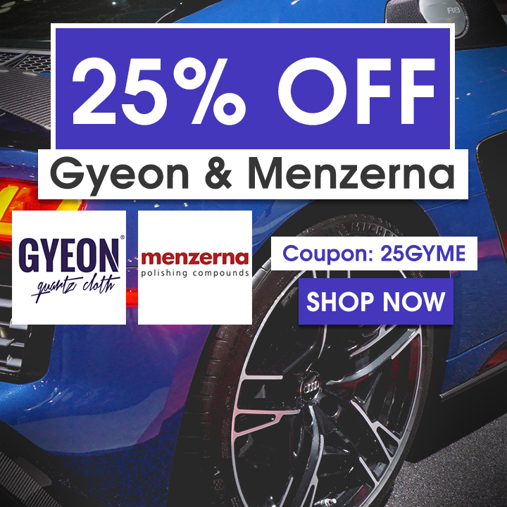 25% Off Gyeon & Menzerna - Coupon 25GYME - Shop Now