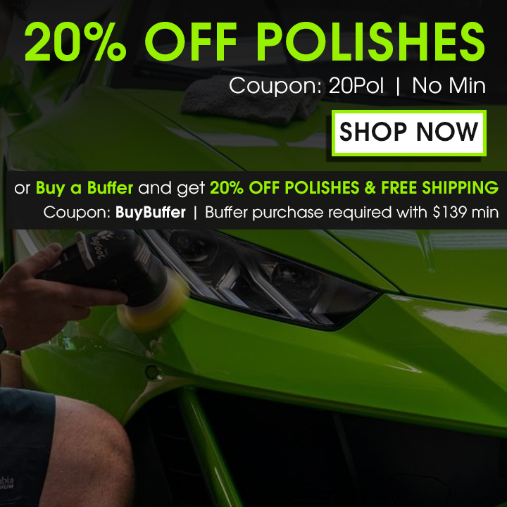 20% Off Polishes Coupon 20Pol No Min - Shop Now - Or Buy a Buffer and get 20% Off Polishes & Free Shipping - Coupon BuyBuffer - Buffer purchase required with $139 min