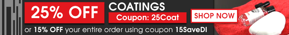 25% Off Coatings Coupon 25Coat or 15% Off your order using coupon 15SaveDI - Shop Now