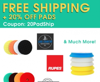 Free Shipping  20 Off Pads