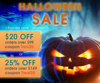 Halloween Sale  20 Off Orders Over 99