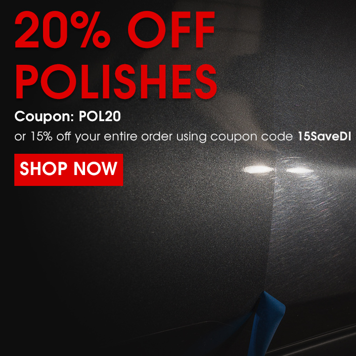 20% Off Polishes Coupon POL20 or 15% off your entire order using coupon code 15SaveDI - Shop Now