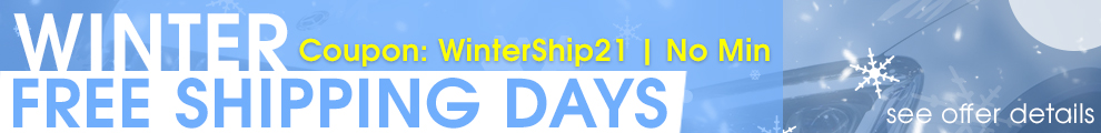 Winter Free Shipping Days - Coupon WinterShip21 - No Min - see offer details