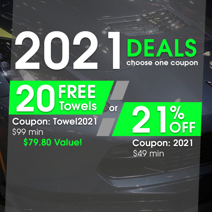 2021 Deals - choose one coupon - 20 Free Towels Coupon Towel2021 $99 Min or 21% Off Coupon 2021 Min $49
