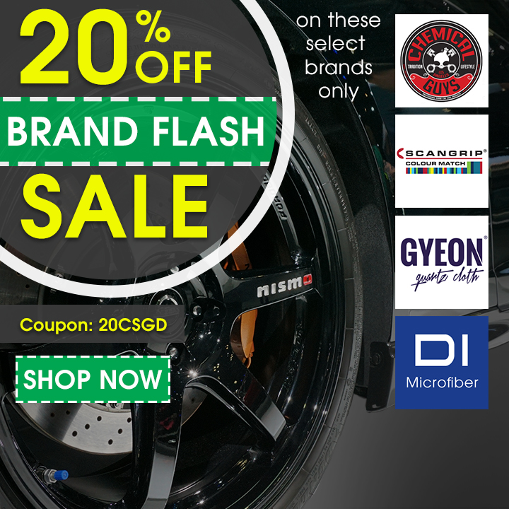 20% Off Brand Flash Sale On Select Brands - Chemical Guys - Scangrip - Gyeon - DI Microfiber - Coupon 20CSGD - Shop Now