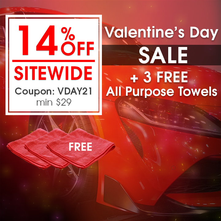 14% Off Sitewide Valentine's Day Sale + 3 Free All Purpose Towels - Coupon VDAY21 - Min $29 - see offer details