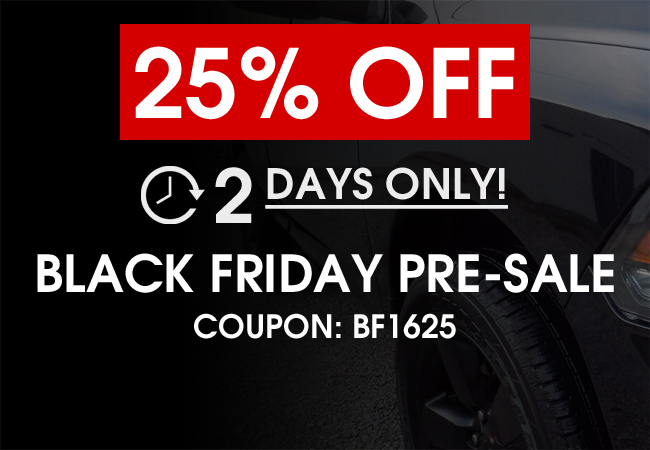 25% Off Black Friday Pre-Sale! 2 Days Only! Coupon: BF1625