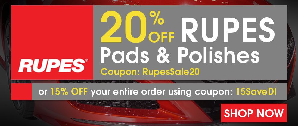 20% Off Rupes Pads & Polishes Coupon RupesSale20 or 15% Off Your Entire Order Using Coupon 15SaveDI - Shop Now