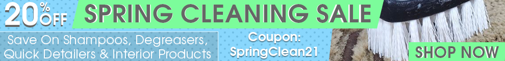 20% Off Spring Cleaning Sale - Save On Shampoos, Degreasers, Quick Detailers & Interior Products - Coupon SpringClean21 - Shop Now