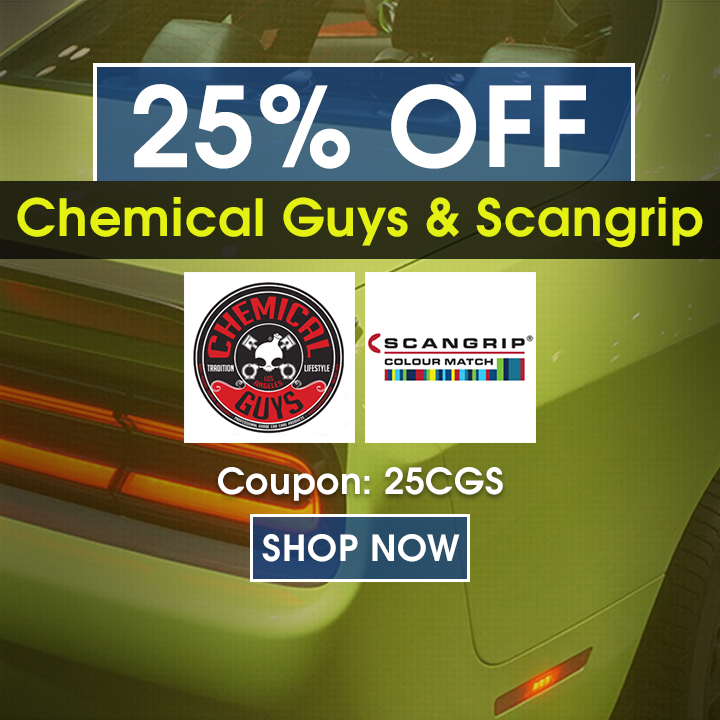 25% Off Chemical Guys & Scangrip - Coupon 25CGS - Shop Now