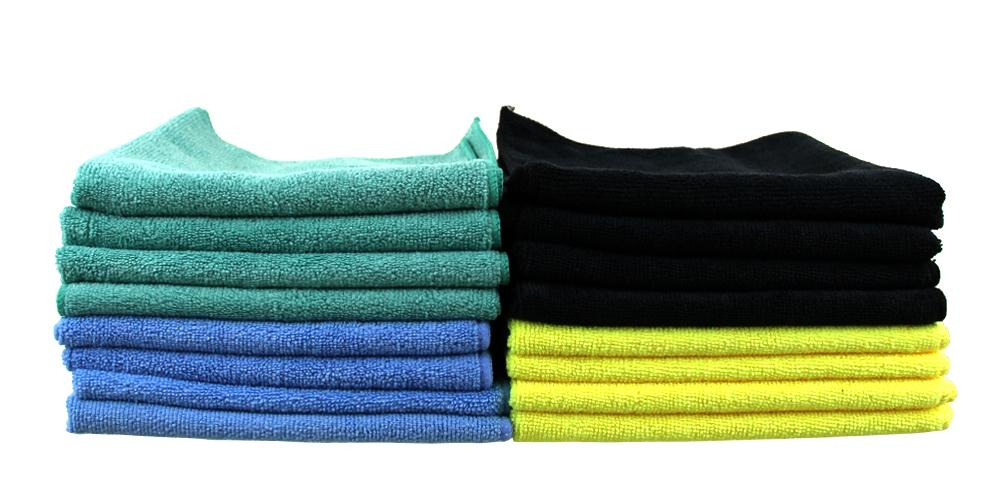 16x Pack All Purpose Microfiber Towel Kit