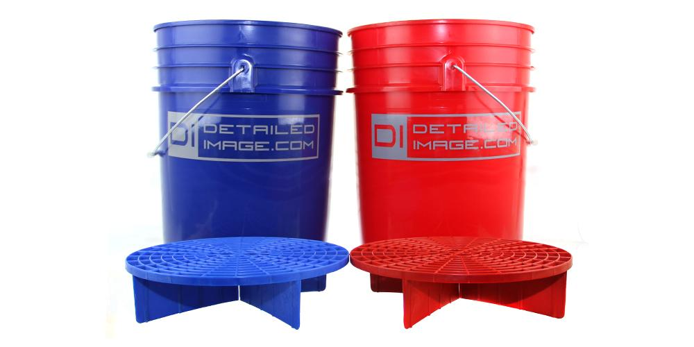 2x 5 Gallon Buckets & 2x Grit Guards Kit