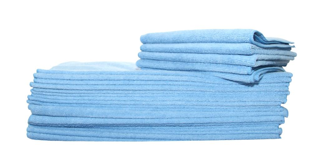 "DI Microfiber All Purpose Towel Blue 16"" x 16"" BULK"