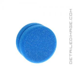 "Buff and Shine Blue Tire Dressing Applicator Sponge - 3.5"" x 2"""