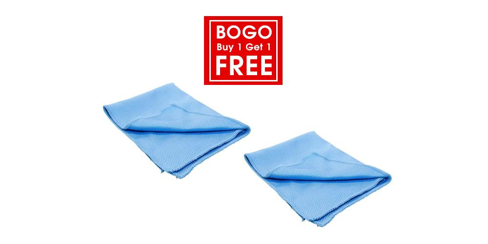 Buy 1 Get 1 Free Diamond Weave Glass Microfiber Towel
