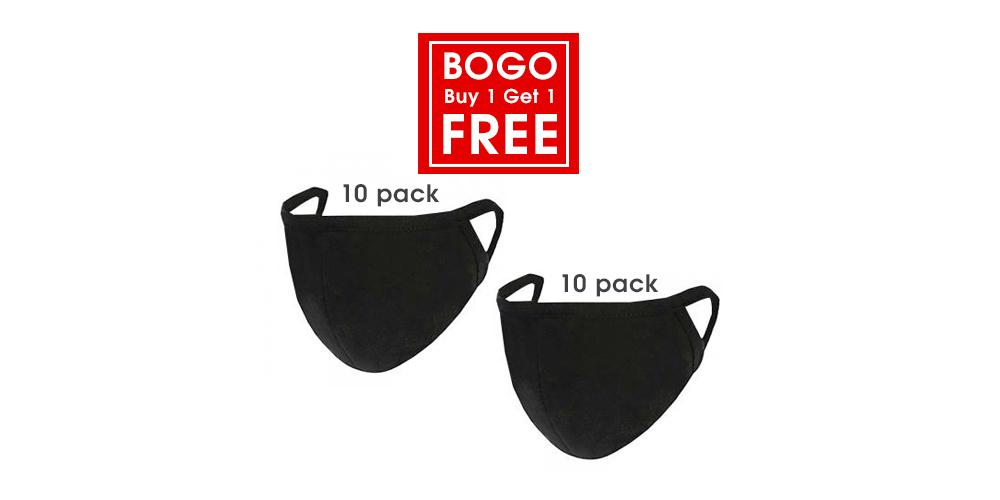 Buy 1 Get 1 Free Face Mask Cotton Reusable 10 pack