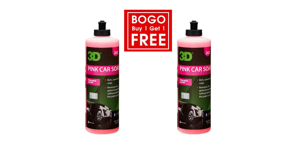 3D Buy 1 Get 1 Free Pink Car Soap