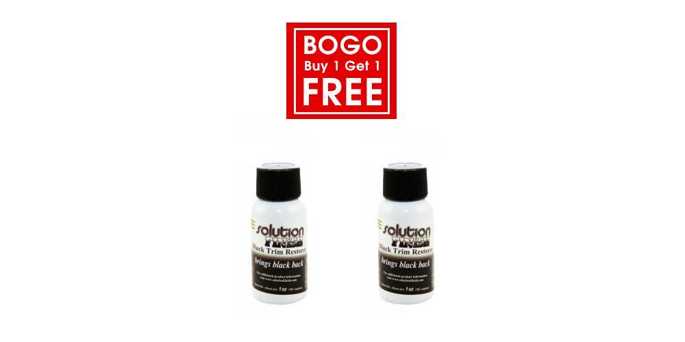 Solution Finish Buy 1 Get 1 Free Trim Restorer - 1 oz Black