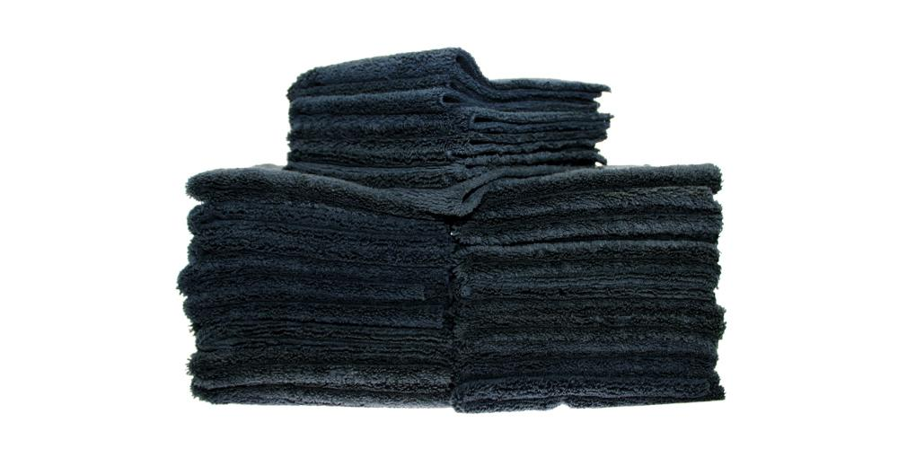 "The Rag Company Creature Edgeless 420 Towel Black 16"" x 16"" BULK 25x"