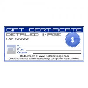 DI Accessories Detailed Image Gift Certificate
