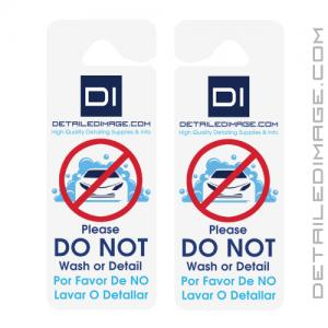"""DI Accessories """"Do Not Wash or Detail"""" Hang Tag - Double Sided"""