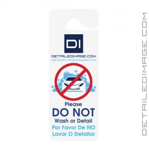 """DI Accessories """"Do Not Wash or Detail"""" Hang Tag - Single Sided"""