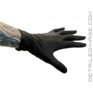 DI Accessories Latex Gloves Premium Black (100 pack) - Large