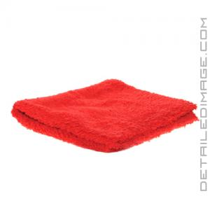 "DI Microfiber Double Thick Edgeless Towel - 16""x 16"" Red"