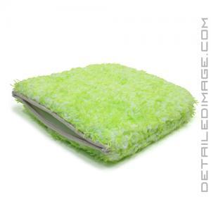 "DI Microfiber Green Monster Hybrid Car Wash Mitt - 9"" x 9"""