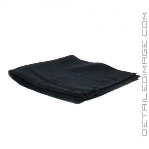 "DI Microfiber Polish Removal Edgeless Towel - 16"" x 16"" Black"